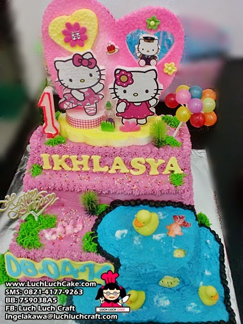 Kue Tart Hello Kitty Pink surabaya - sidoarjo