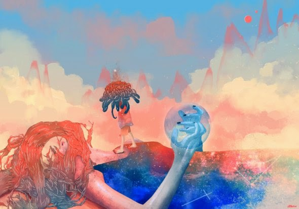 Carolina Rodriguez Fuenmayor ilustrações pinturas digitais surreais ficção