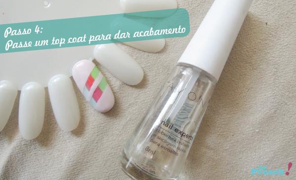 Nail Art, Tape Mani, unhas listradas com esmalte colorido
