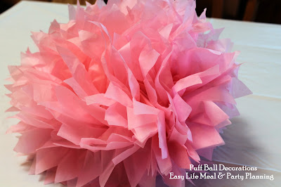Puff Ball Party Decoration for Guest Tables & Hanging on the Wall - Easy Life Meal & Party Planning