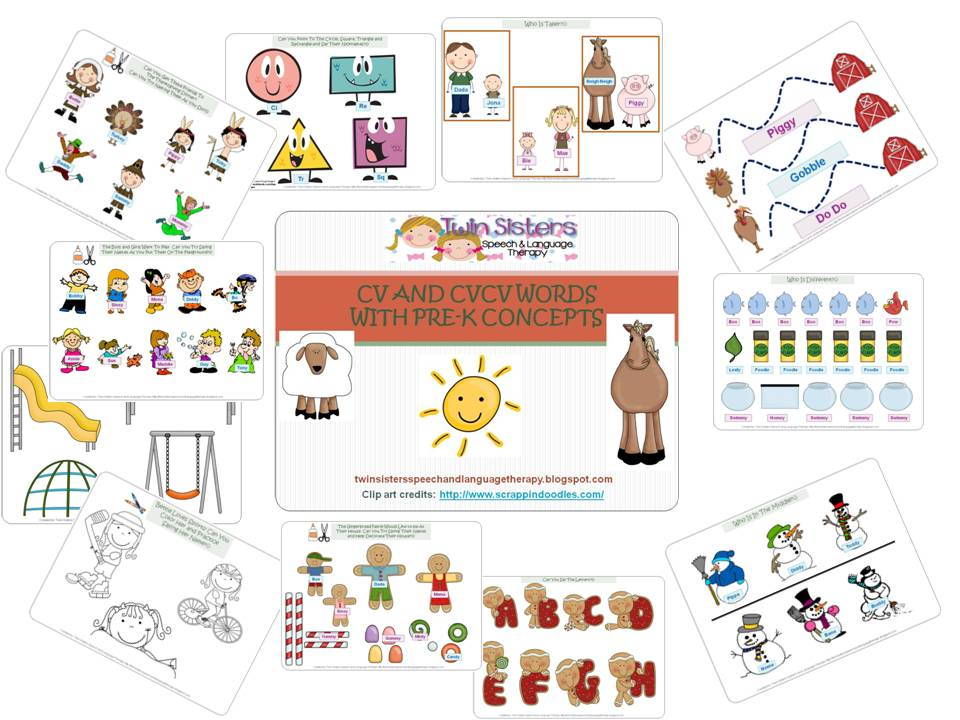 twin speech  language  u0026 literacy llc  fun with cv and cvcv words with pre