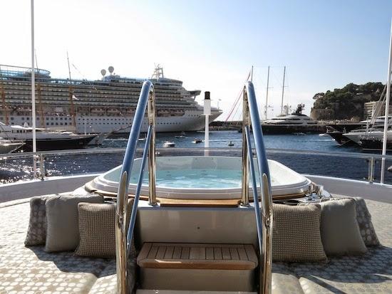 Jacuzzi on a yacht's sundeck