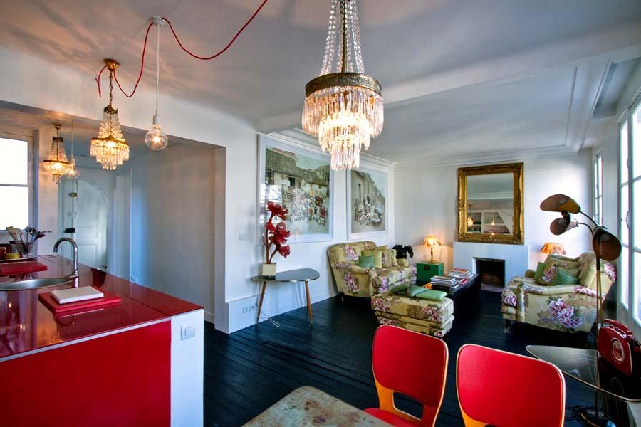 Dise o de cocina apartamento en par s for Estilo eclectico diseno de interiores
