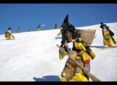 Skiing Witches Race in Belalp