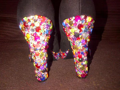 Crystalise crystal rhinestone heel shoes