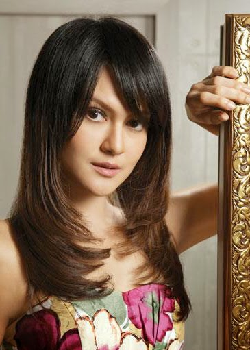 Foto Model  Rambut Layer