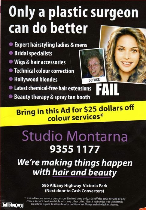 Before - After Advert Fail