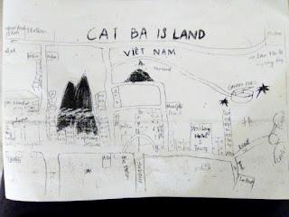 Mapa Cat Ba Ha Long Hotel Vietnam