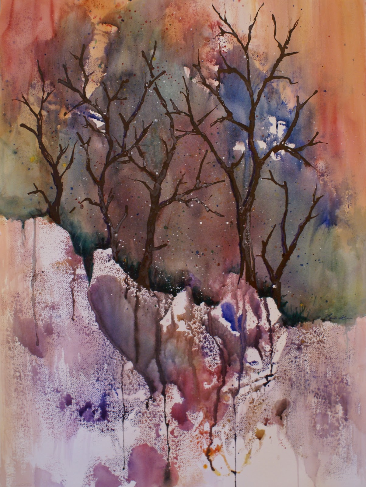 Watercolor artists in texas -  Fall Color Watercolor By Texas Artist Linda Bein