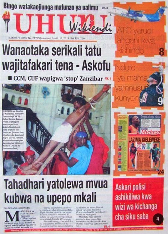 Magazeti ya leo Jumamosi ya tarehe 19 April 2014