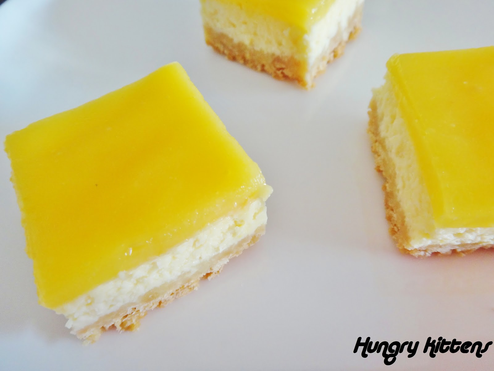 Hungry Kittens: Lemon Cheesecake Squares