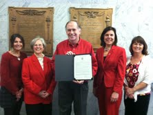 Wear Red for Women Day at City Hall