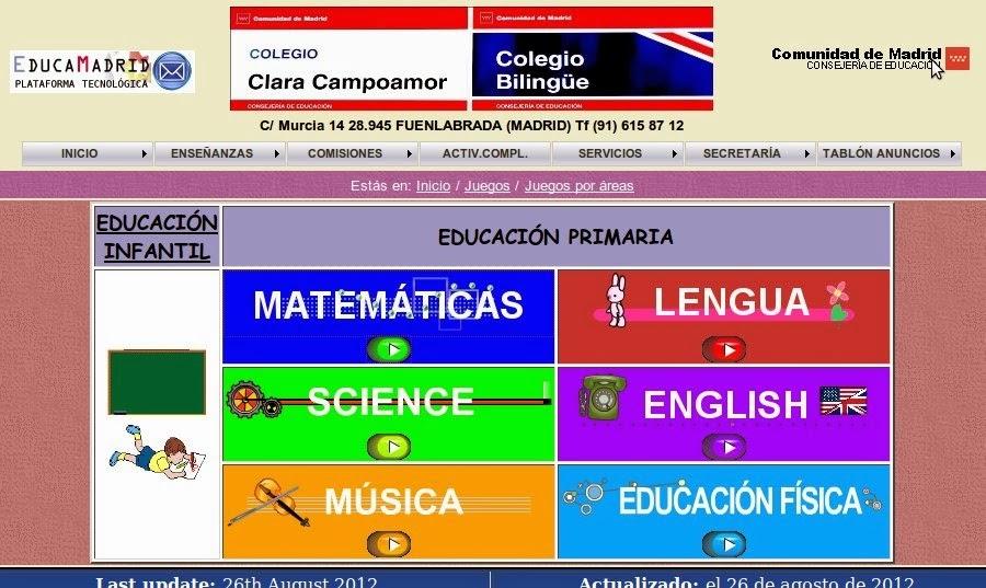 Juegos educativos Clara Campoamor
