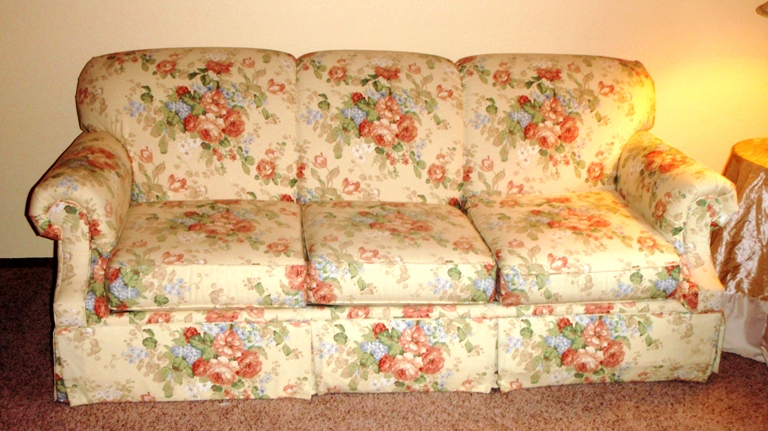 For Sale: Bassett Floral Sofa Couch $185