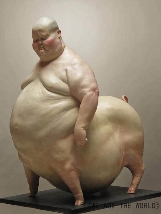 Anthropomorphic Sculpture of human/animal hybrids - Art'einsky