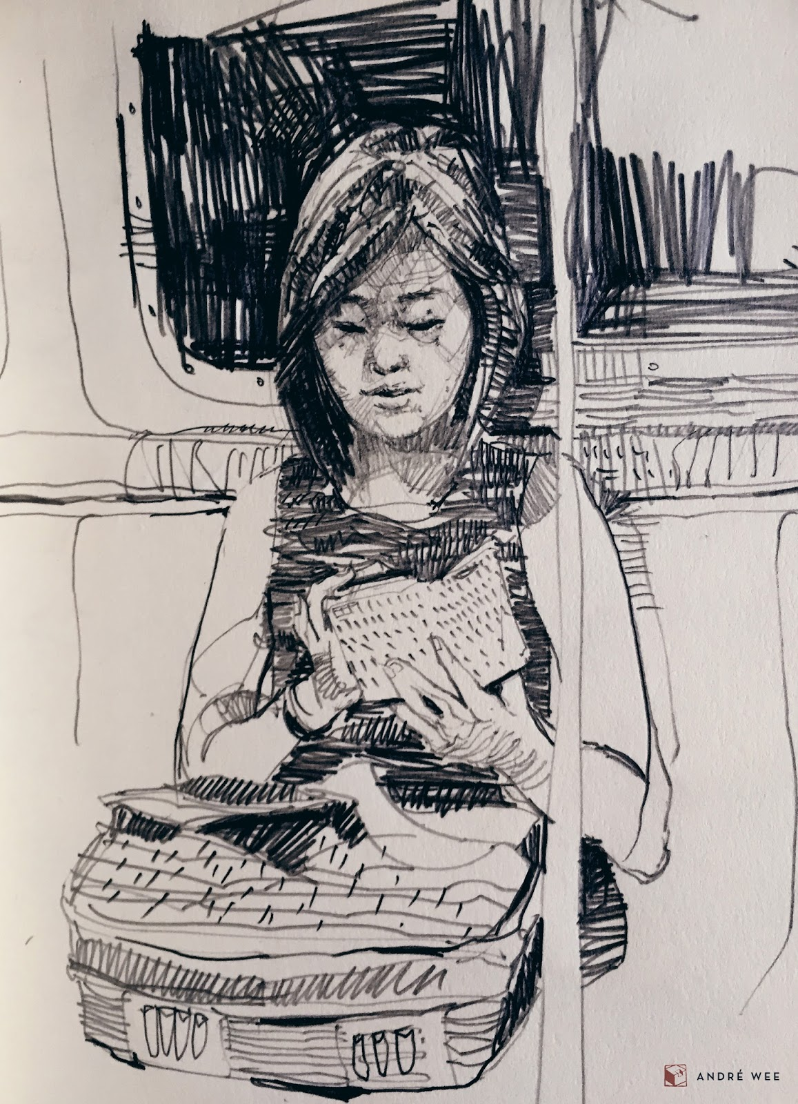 The ride home: Sketches on the subway, New York City