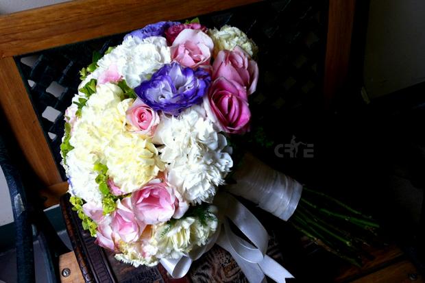 Hoa cưới kiểu tròn,hoa cưới đẹp