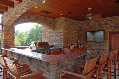 Outdoor Kitchen Designs with Uncovered and Covered Style Helping your Pizza Baking Feast