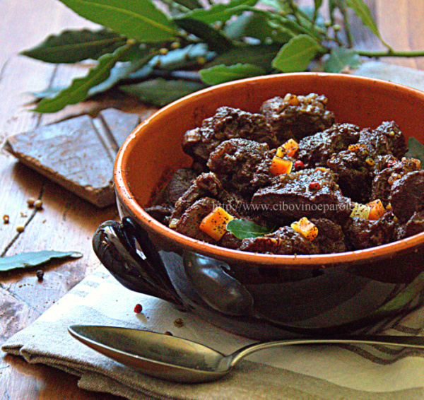Wild boar with dark chocolate -recipe