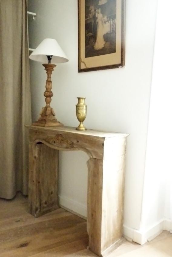Les fausses chemin es une vrai id e d co mademoiselle for Cheminee en bois decorative
