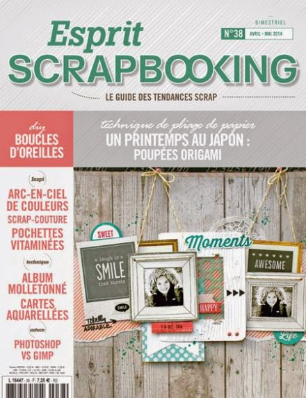 En couverture ! Esprit Scrapbooking n°38