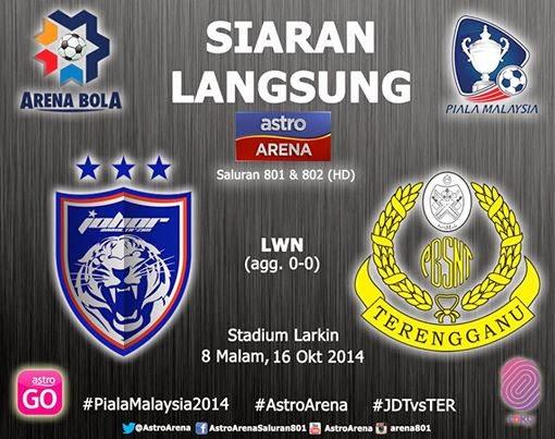 Siaran Langsung JDT vs Terengganu