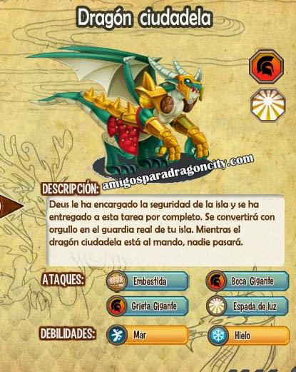 imagen de las caracteristicas del dragon ciudadela