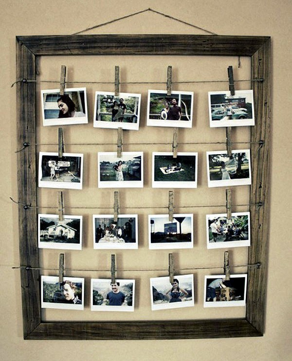 10 Unique Ideas for Photo Frames ~ Crafts and Decor
