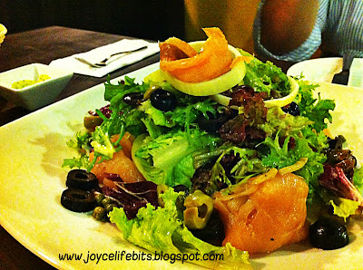 scottish smoked salmon salad