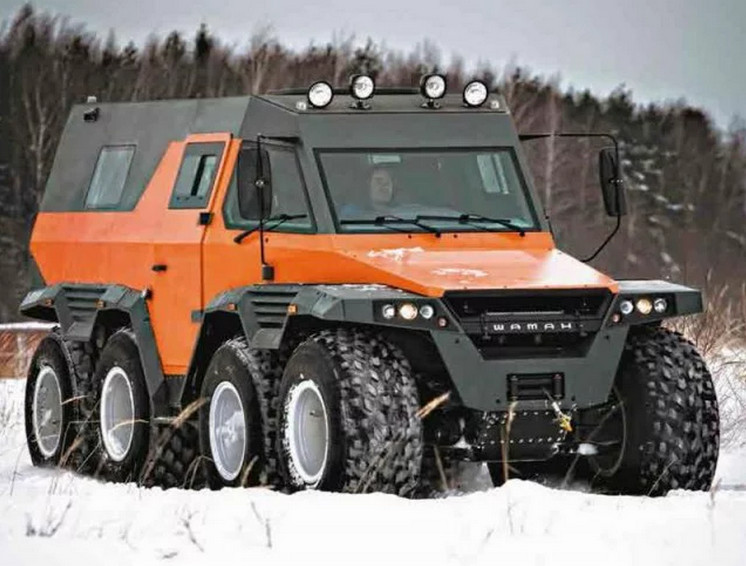 Extreme amphibious russian offroad vehicle