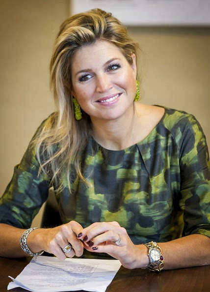 Queen Maxima visited at the Foundation in Doorn