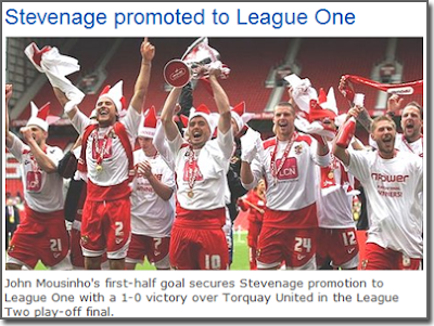 Stevenage Promoted to League One \o/