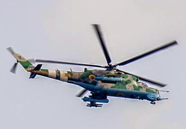 Ми-24ВП «желтый 06» окраске