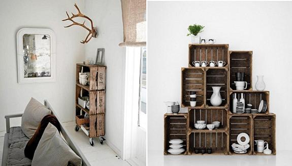 Decoraci n dormitorio principal inspiraciones noelia - Cajas de fruta recicladas ...