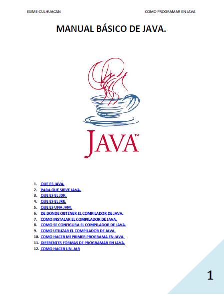 Libros de programaci n java tecnologia for Como programar en java