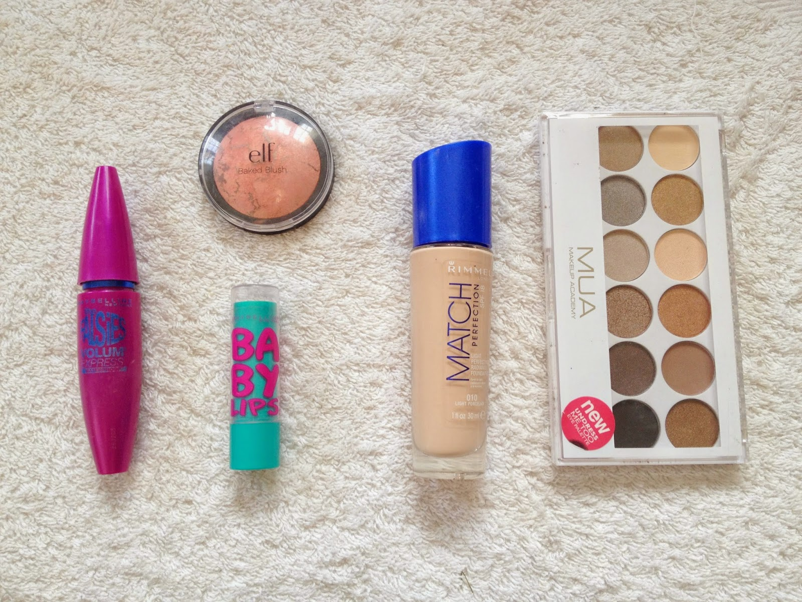 5 Product Face Tag featuring Maybelline, MUA, Rimmel and elf