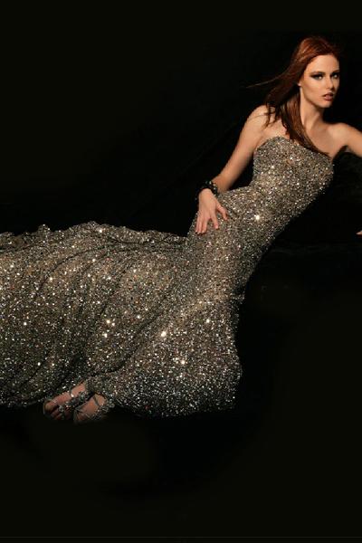 Glamours Pailletten lange Kleider
