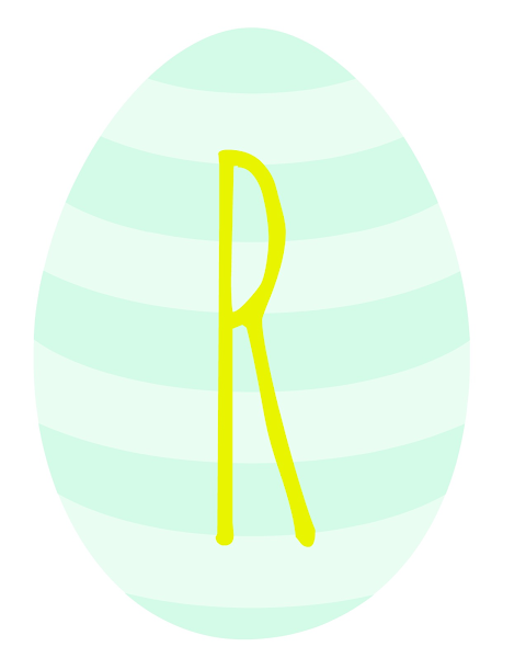 Printable Easter Egg Banner from Blissful Roots