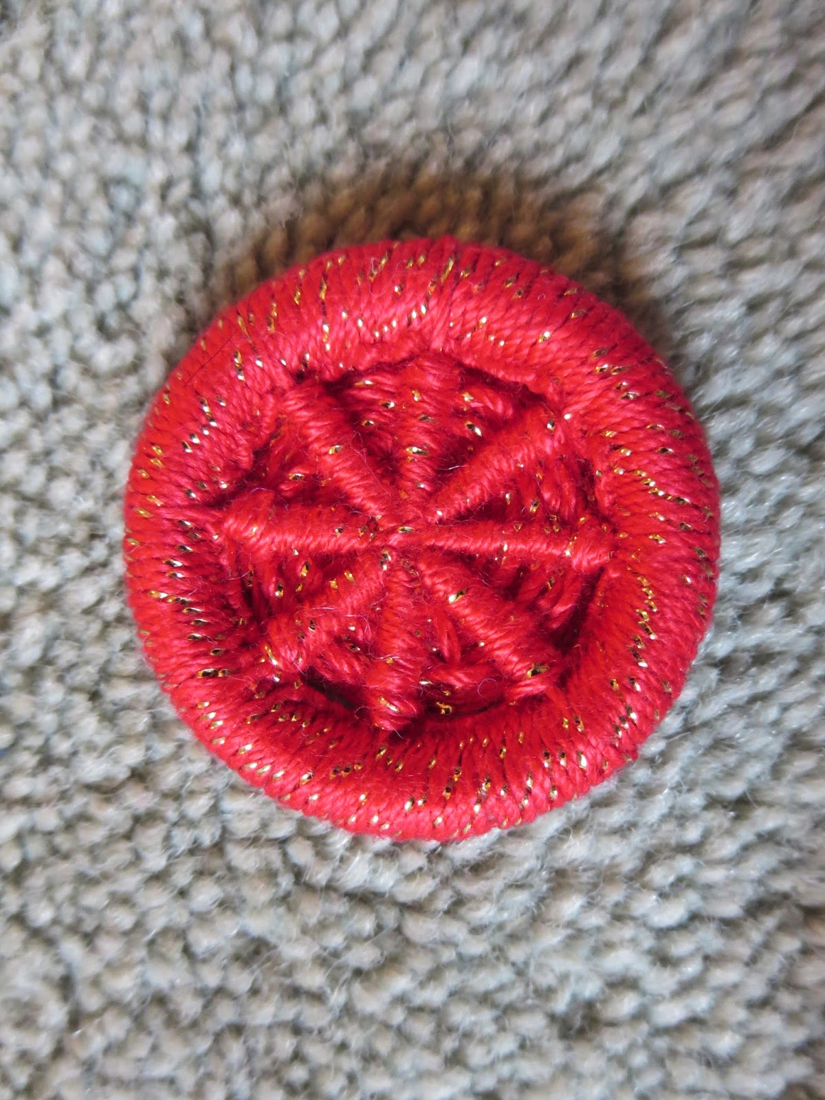 red dorset button