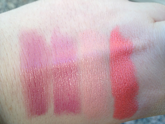 Mac Lipstick Collection in Syrup, Sweetie, Hue, and Costa Chic with Swatches, Photos, and Review