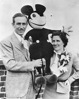 Walt Disney e Lilian Bounds Disney, que teria dado a ideia de mudar o nome de Mortimer para Mickey