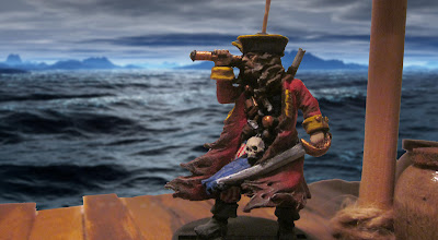 Captain or Privateer, Diamond Joe gazes out at the ocean.