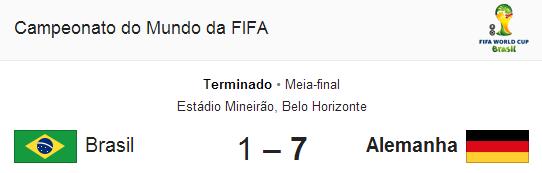 Mundial 2014 - Brasil - Alemanha (ou então: WTF!? )