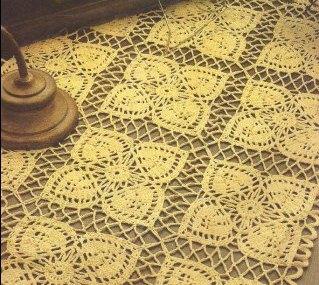 Tapete Amarillo a Crochet o Ganchillo