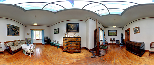 panoramic photography Michael and Anna Anchers house interior