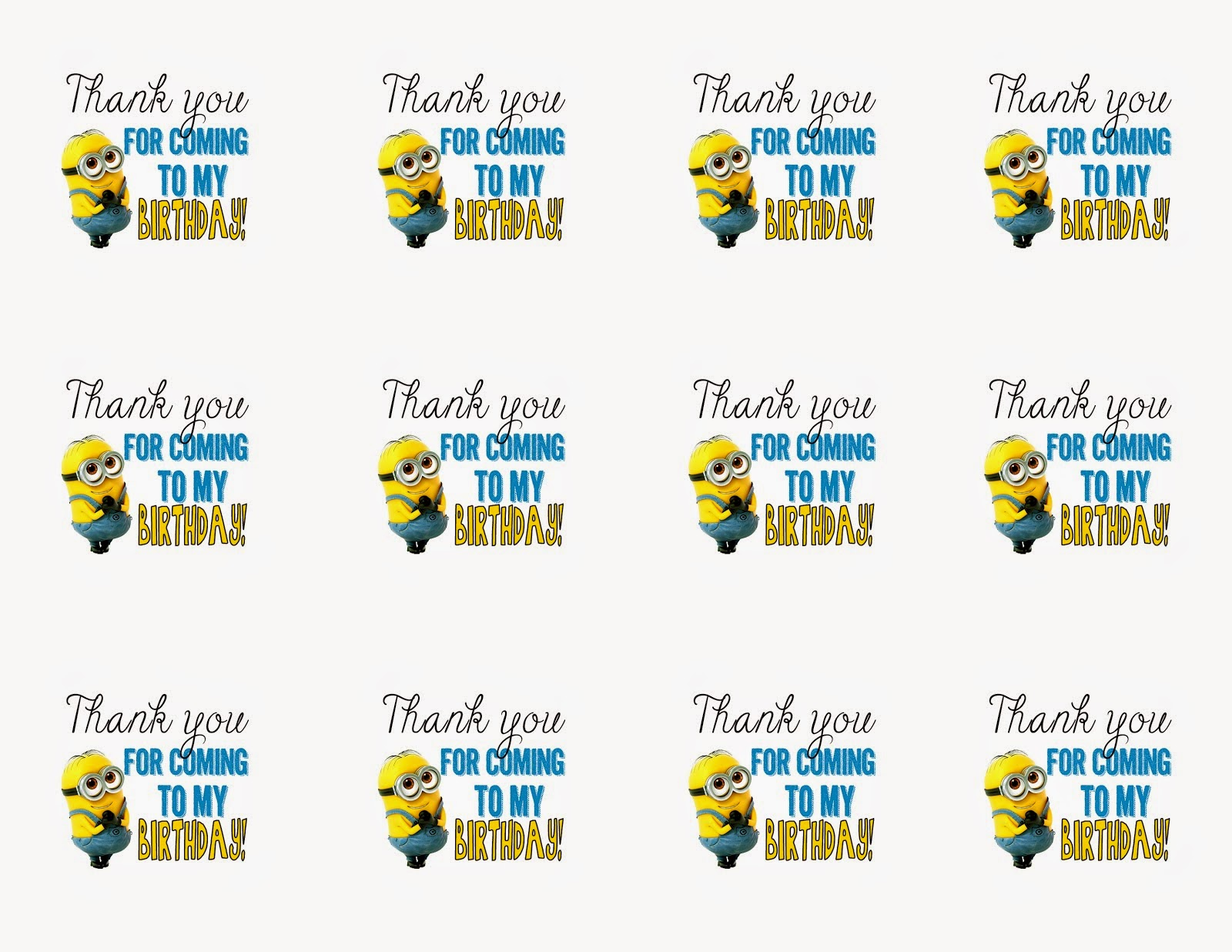 Minions: Free Printable Bunting, Labels and Toppers. | Is it for PARTIES? Is it FREE? Is it CUTE ...