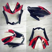 Cover Headlamp / Lampu Depan Yamaha New Vixion Saiya Hitam