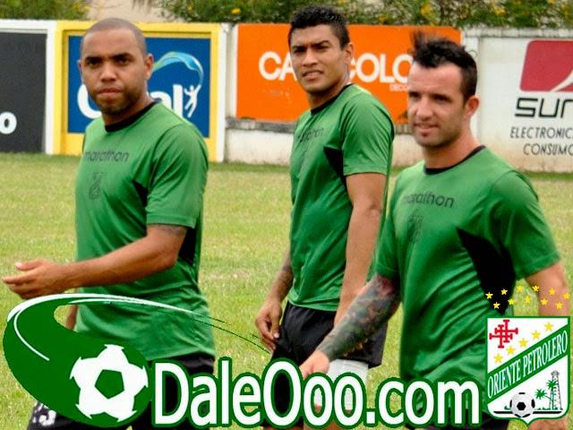 Oriente Petrolero - Thiago Dos Santos - Alcides Peña - Matías García - DaleOoo.com web del Club Oriente Petrolero