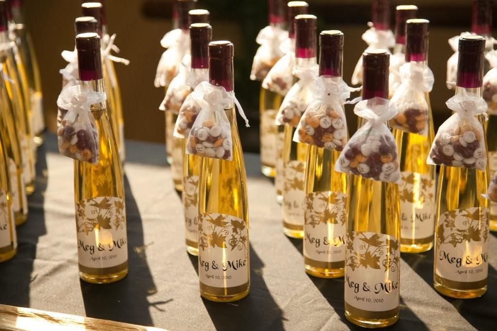 Viva la sposa pillow present for Mini wine bottle wedding favors