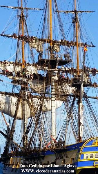 Fragata L Hermione playa blanca  Lanzarote, rumbo a Las Palmas